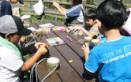 レクリエーション-竹馬作り(1)