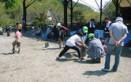 レクリエーション-竹馬作り(3)