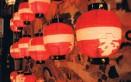 10月24日上野天神祭り宵山の神様に献灯する提灯