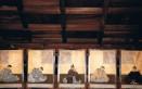 10月上野天神祭りの期間中拝殿内に掲示される三十六歌仙の和歌と詠み人
