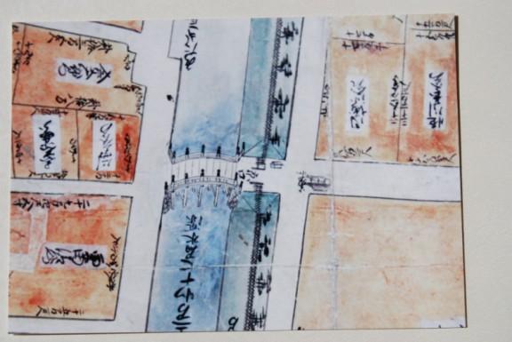 宝永当時の京口橋絵図